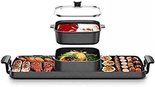 Grills électriques, Plaque de cuisson pour barbecue à plaque chauffante Teppanyaki Barbecue, Non-adhésif, Barbecue réglable sans fumée