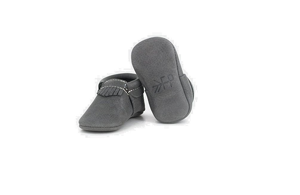 Freshly Picked - Blue Spruce City Mocc - Soft Sole Leather Baby Moccasins - Size 1