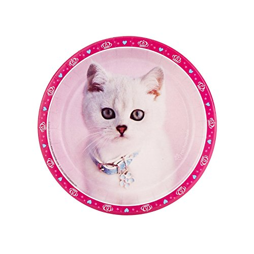 (BirthdayExpress Rachael Hale Glamour Cats Party Supplies - Dessert Plates (8))