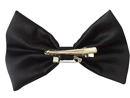 Halloween Wholesalers Classic Hair Bow Black (4 -