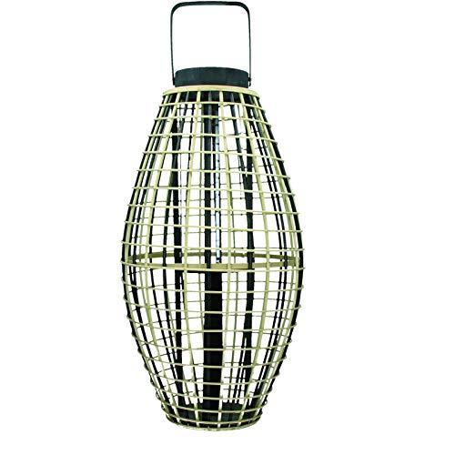 Pomax–Lanterna–Otaru–bambù–bambù/Nero–34,5x 34,5x 66cm 5x 34 5x 66cm