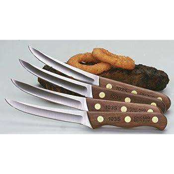Amazon Com Chicago Cutlery Wood Handle Steak Knife Set