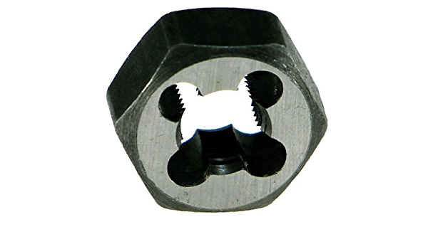 Uncoated Drillco 3350E Series Carbon Steel Hexagon Rethreading Die Bright 11//16 Width 5//16-24 UNF Finish
