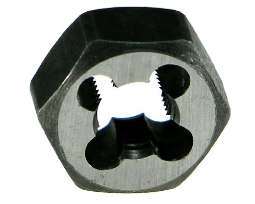 Hexagon Pipe Npt Die Rethreading (Drillco 3380E Series Carbon Steel Hexagon Pipe Rethreading Die, Uncoated (Bright) Finish, 1-1/4 Width, 3/8-18 NPT)