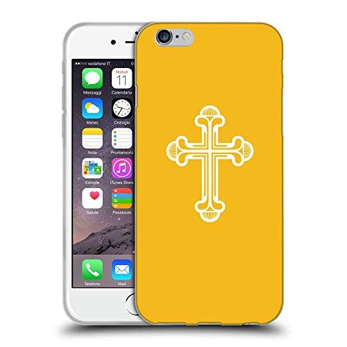 """GoGoMobile Coque de Protection TPU Silicone Case pour // Q09380602 Croix chrétienne 48 ambre // Apple iPhone 6 4.7"""""""