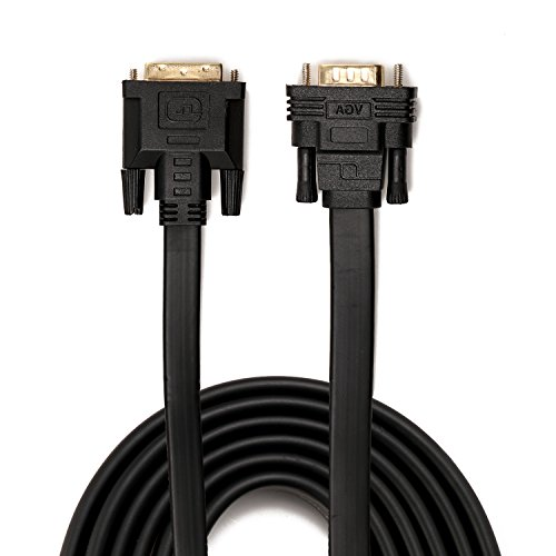 DVI to VGA, YIWENTEC DVI 24+1 DVI-D M to VGA Male With Chip Active Adapter Converter Cable for PC DVD Monitor HDTV 2M (Flat) by YIWENTEC (Image #2)