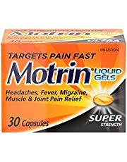 Motrin Super Strength Liquid Gels, Pain Reliever, Menstrual Pain,