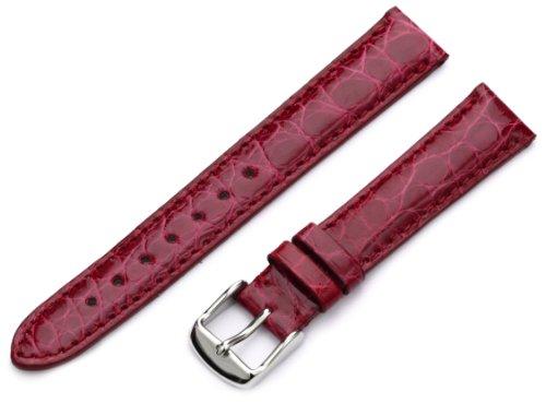 Hadley-Roma Women's LSL823RQ 160 16-mm Red Pink Genuine Alligator Watch Strap