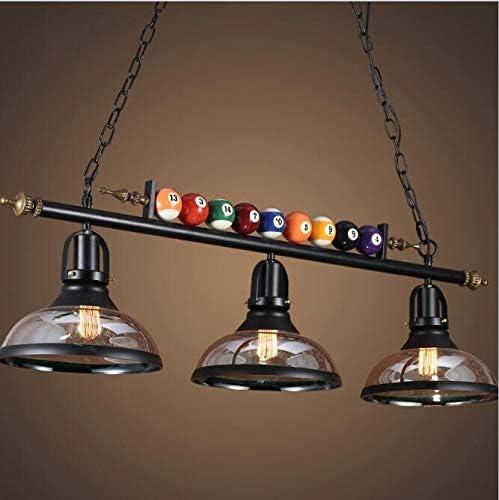 MKJMGB Americana lámpara del Vintage Restaurante Bar Bar Billar ...