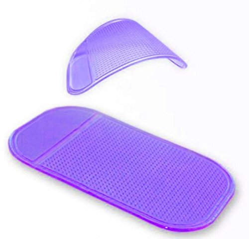 Hosaire Antislip Sticky Mat for Car Dashboard or Any Other Surface Washable Silicone Gel Pad for Miscellaneous Equipment - Phones, Cameras, Game Accessories and Other Small Items Purple ()