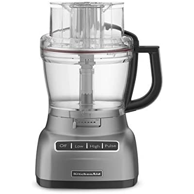 Click for KitchenAid 13-cup Die-Cast Metal Base Food Processor, RKFP1344CS, (CERTIFIED REFURBISHED) Silver