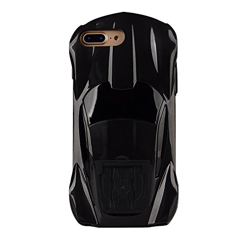 iPhone 8 Plus case,iPhone 7 Plus case,MEIQING 3D Fashion Cool Racing Car Design Hard PC Kickstand Back Case For iphone 7 Plus 8Plus with Screen Protector ()