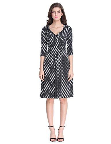 Buy black 3/4 sleeve dress size 16 - 2