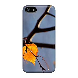 Durable Defender Case For Iphone 5/5s pc Cover(yellow Autumn Tree Leaves)