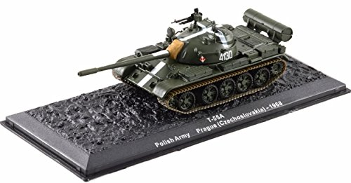 Deagostini 1:72 Diecast Model Tank - T 55A Polish Army Prague Czechoslovakia 1968 Army Tank #3