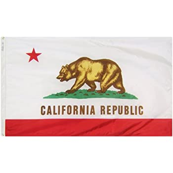 Annin Flagmakers Model 140460 California State Flag 3x5 Ft Nylon SolarGuard Nyl Glo 100