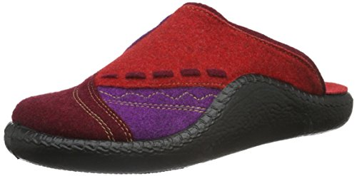 Romika Mokasso 114 - Zapatilla de estar por casa Mujer Multicolor - Mehrfarbig (bordo-kombi 416)