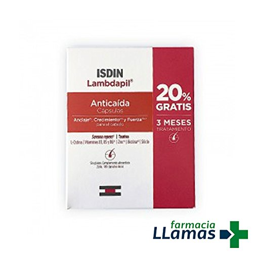 ISDIN LAMBDAPIL ANTICAIDA 180 CAPSULAS - 3 MESES DE TRATAMIENTO ...