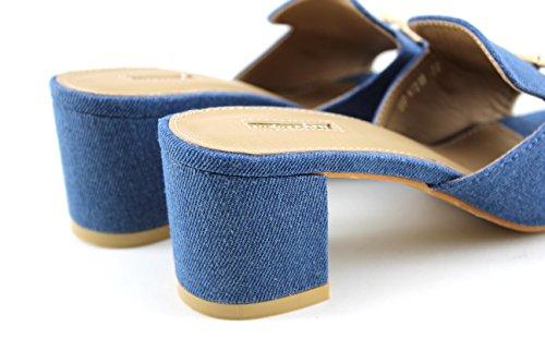 Modelisa - Sandalias Destanolada Mujer Azul