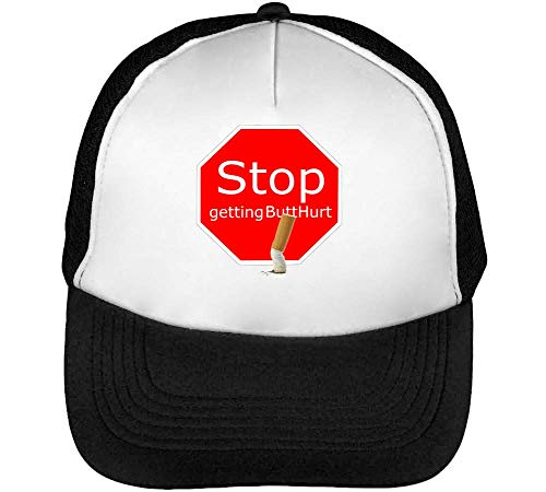 Snapback Beisbol Getting Hombre Butthurt Blanco Stop Gorras Negro w17AIwqB