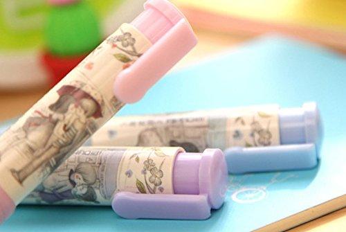 Genonaute Creative Lovely Pen Shape Hand Press Eraser Rubber by Genonaute (Image #2)