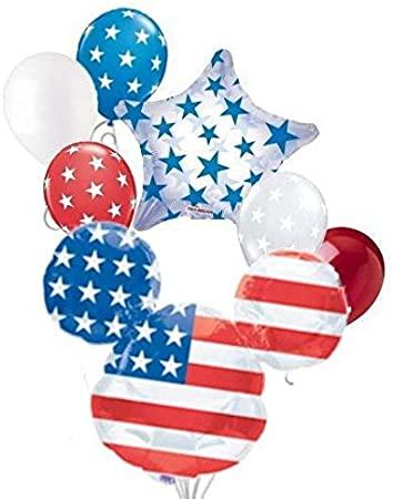 4th of July Patriotic Decorations,Independence Day Decorations,80Pcs Patriotic Party Supplies,American Flag Party Decorations,USA Flag Star Banner,American Flag Star Pennant,Patriotic Party Balloons