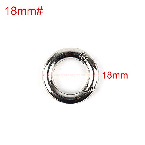 GUOYIHUA 2pcs Book Rings,Ring Round Carabiner Snap Clip Keyring Buckle Snap Hook Lobster Claw Clasp Keychain Rings Binder Rings Book Ring