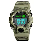 Venhoo Digital Kids Watches Outdoor Sport Waterproof Electronic EL-Light with Alarm Stopwatch Luminous Wrist Watch for Kids Boys Girls Age 5-12-Camouflage