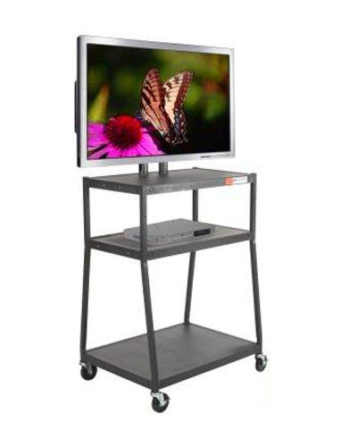 Balt Wide Body Mobile Flat Panel TV Cart, AV Cart, Black, 67