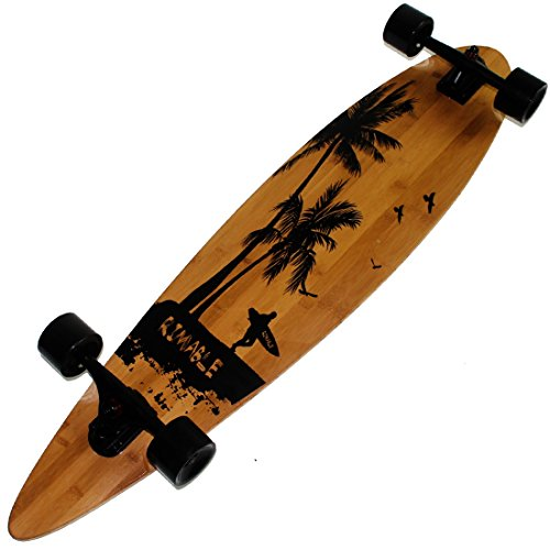 Rimable Bamboo Pintail Longboard (41 Inch, Surf