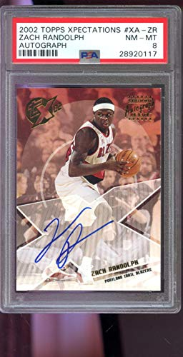2002-03 Topps Xpectations Zach Randolph TX02 Signed AUTO Autograph PSA 8 Graded Basketball NBA Card (Topps Auto 2002 Autograph)