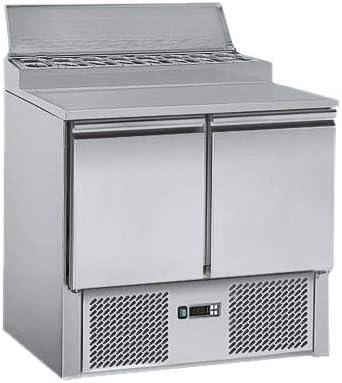 Saladette/Zubereitungstisch ECO - 0,9 x 0,7m - mit 2 Türen