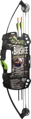 Barnett Outdoors Team Realtree Banshee Quad Youth Compound Bow Archery Set, Outdoor Stuffs