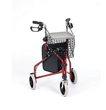 Amazon.com: drive medical acero rojo andador triciclo con ...