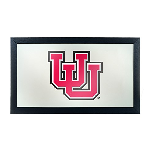 (NCAA University of Utah Framed Logo Mirror)
