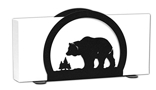 BEAR Wildlife Metal Letter Napkin Card Holder