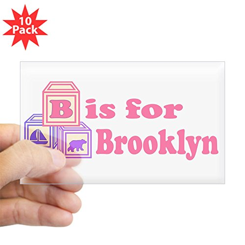 CafePress - Baby Blocks Brooklyn - Rectangle Bumper Sticker (10-pack), Car Decal