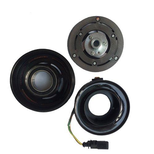 (A/C AC Compressor Clutch Repair Kit - Clutch Hub Pulley Coil Bearing for VW Jetta Beetle Golf Audi TT Quattro 1999-2006)