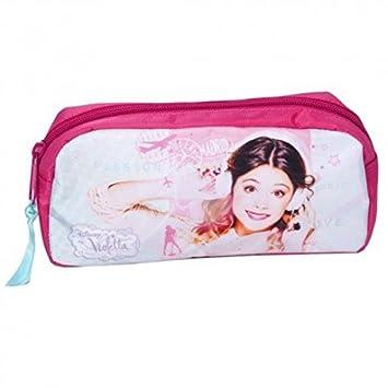 Violetta estuche escolar escuela niña niño Disney: Amazon.es ...