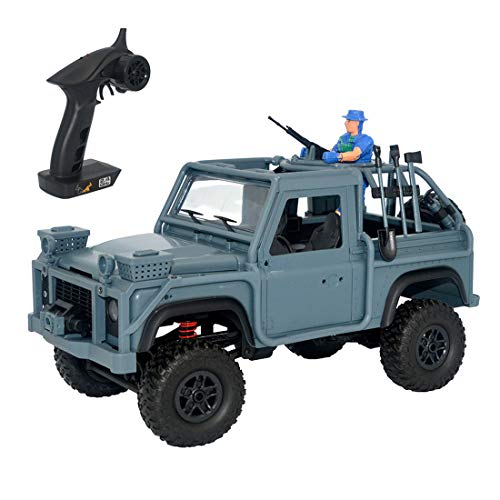 MN-96 RSOV 1/12 4WD Crawler 2.4G RC Cavalry Jeep Vehicle with LED Light,Shipped from The US Warehouse (Dark Blue, 35 X 16.5 X 23cm) (Best Long Distance Flashlight)