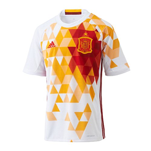 adidas Spain Away Youth Jersey [White/Red] (XL) ()