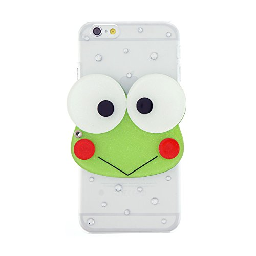 CaseBee-3D-Series-Cute-3D-Keroppi-w-Mirror-iPhone-6-6S-47-Case-Handmade-Bling-Bling-Rhinestones-Perfect-Gift-Package-includes-Extra-Crystals