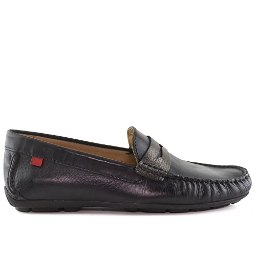 Mannen Echt Leer Gemaakt In Brazilië Union Street Bestuurder Marc Joseph Ny Fashion Schoenen Zwart Napa Metallic
