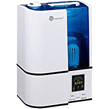 TaoTronics Cool Mist Humidifier, LED Display, 4L Ultrasonic Humidifiers for Home Bedroom, with Filter, Adjustable Mist Levels, Timer, Waterless Auto Shut-off --(4L/1.06 Gallon, US 110V)