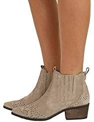 New Matisse Womens X Amuse Society Backstage Bootie Suede Leather Natural