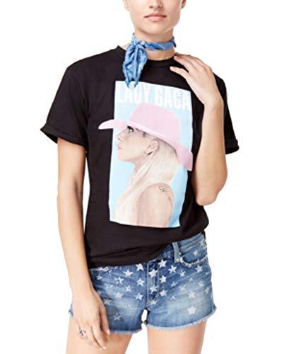 Lady Gaga Joanne Tour Juniors' Cotton Boyfriend T-Shirt (Black, M)