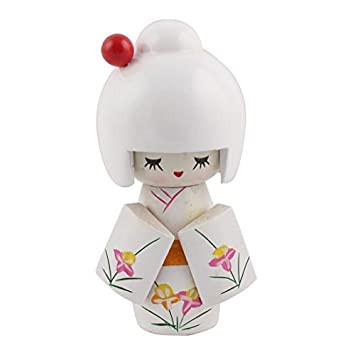 Amazon.com : eDealMax Bois Salon Décor japonais Kokeshi Kimono Doll on