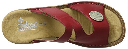 33 Ciabatte Rosso 60883 Rosso Donna Rieker n5AXvqw