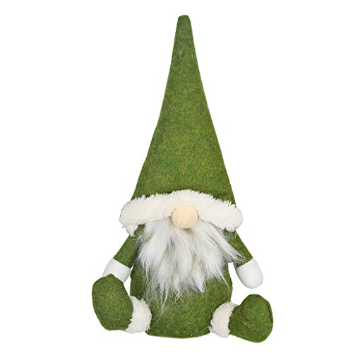 WYILIY Christmas Decorations Home Decor Doll, Christmas Ornaments Plush Long Hat Forest Man Figurine Creative Xmas Santa Claus Faceless Doll Gifts