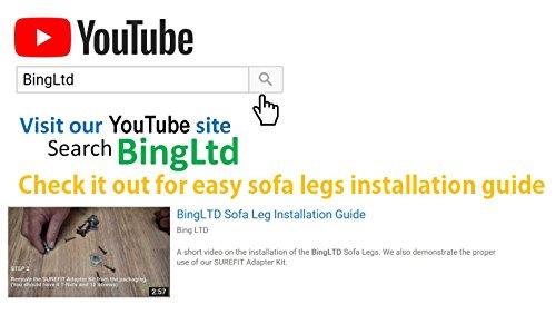 BingLTD - 7'' Unfinished Profile Hardwood Sofa Leg - Set of 4 (PAULINE-UNF-FBA) by BingLTD (Image #3)